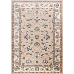 Avalon Beige and Ivory Mahal Rectangular: 3 Ft. 3 In. x 5 Ft. 3 In. Rug