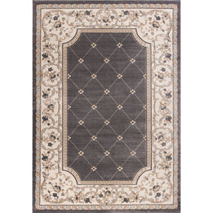 Avalon Grey and Ivory Courtyard Rectangular: 3 Ft. 3 In. x 5 Ft. 3 In. Rug