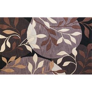 Bali Plum/Black Mosaic Rectangular: 5 ft. x 8 ft. Rug