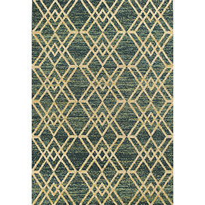 Barcelona Teal Moderne Rectangular: 2 Ft. 7 In. x 4 Ft. 11 In. Rug