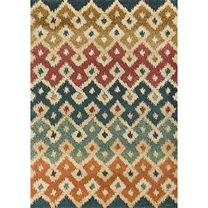 Barcelona Multicolor Villa Rectangular: 2 Ft. 7 In. x 4 Ft. 11 In. Rug