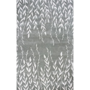 Bob Mackie Home Silver Rectangular: 3 Ft. 3-Inch x 5 Ft. 3-Inch Rug