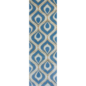 Bob Mackie Home Blue Runner: 2 Ft. 6-Inch x 8 Ft. Rug