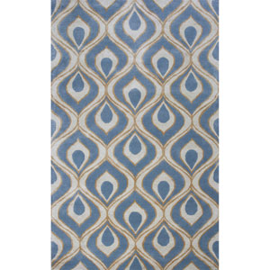 Bob Mackie Home Blue Rectangular: 8 Ft. x 11 Ft. Rug