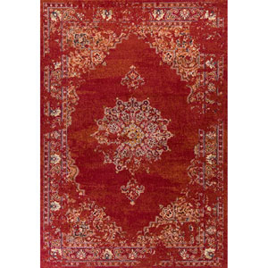 Bob Mackie Home Vintage Burnt Red Rectangular: 3 Ft. 3-Inch x 4 Ft. 11-Inch Rug