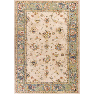 Bob Mackie Home Vintage Sand and Seafoam Rectangular: 3 Ft. 3-Inch x 4 Ft. 11-Inch Rug