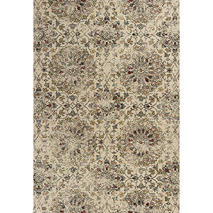 Bob Mackie Home Vintage Sand Mosaic Rectangular: 3 Ft. 3 In. x 4 Ft. 11 In. Rug