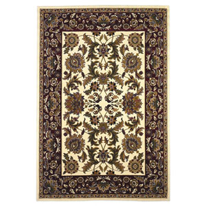 Cambridge Ivory/Red Kashan Rectangular: 2 Ft. 3 In. x 3 Ft. 3 In.  Rug