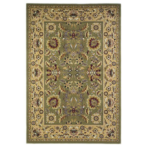 Cambridge Green/Taupe Kashan Rectangular: 2 Ft. 3 In. x 3 Ft. 3 In.  Rug