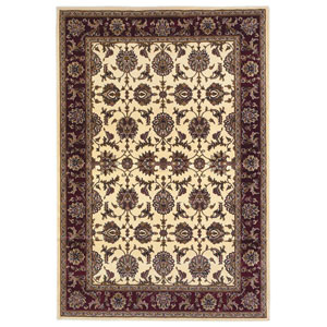 Cambridge Ivory/Red Kashan Rectangular: 1 Ft. 6 In. x 2 Ft. 6 In. Rug