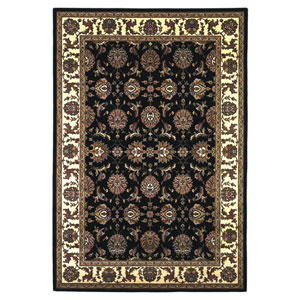 Cambridge Black/Ivory Kashan Rectangular: 2 Ft. 3 In. x 3 Ft. 3 In.  Rug
