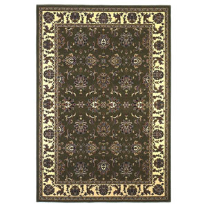 Cambridge Green/Ivory Kashan Rectangular: 2 Ft. 3 In. x 3 Ft. 3 In.  Rug