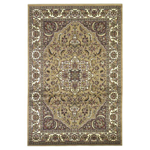 Cambridge Beige/Ivory Kashan Medallion Rectangular: 2 Ft. 3 In. x 3 Ft. 3 In.  Rug