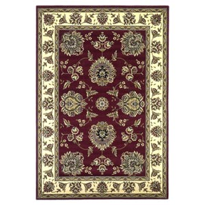 Cambridge Red/Ivory Floral Mahal Rectangular: 5 ft. 3 in. x 7 ft. 7 in. Rug