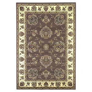 Cambridge Plum/Ivory Floral Mahal Rectangular: 5 ft. 3 in. x 7 ft. 7 in. Rug