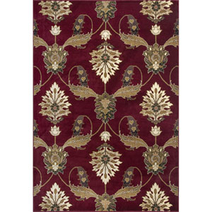 Cambridge Red Rectangular: 5 Ft. 3-Inch x 7 Ft. 7-Inch Rug