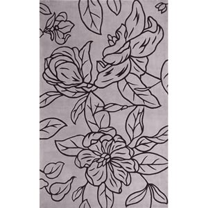 Catalina Grey Silhouette Rectangular: 5 ft. x 8 ft. Rug