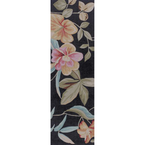 Coral Charcoal Runner: 2 Ft. 3-Inch x 7 Ft. 6-Inch Rug