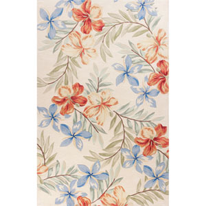 Coral Ivory Aloha Rectangular: 3 Ft. 3 In. x 5 Ft. 3 In. Rug