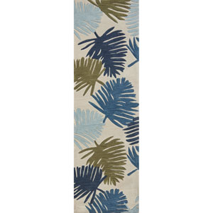 Coral Ivory Ocean Breeze Runner: 2 Ft. 3 In. x 7 Ft. 6 In. Rug