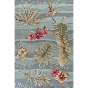 Coral Seafoam Rectangular: 3 Ft. 3-Inch x 5 Ft. 3-Inch Rug