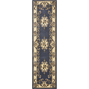 Corinthian Blue Aubusson Runner: 2 Ft. 2 In. x 7 Ft. 11 In. Rug