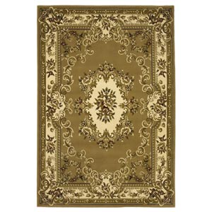 Corinthian Beige/Ivory Aubusson Rectangular: 2 ft. 3 in. x 3 ft. 3 in. Rug