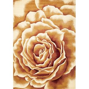 Corinthian Ivory Floral Splendor Rectangular: 5 Ft. 3 In. x 7 Ft. 7 In.  Rug