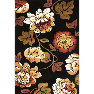 Corinthian Black Bella Rectangular: 5 Ft. 3 In. x 7 Ft. 7 In.  Rug