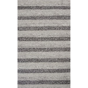 Cortico Gray and White Rectangular: 7 Ft. 6-Inch x 9 Ft. 6-Inch Rug