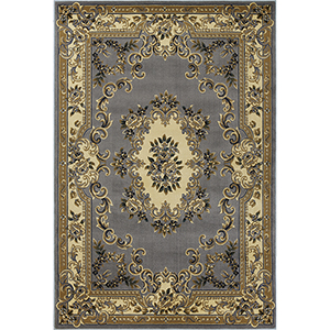 Corinthian Slate Blue Aubusson Rectangular: 20 In. x 31 In. Rug