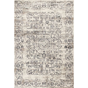 Crete Ivory and Gray Rectangular: 3 Ft. 3-Inch x 4 Ft. 7-Inch Rug