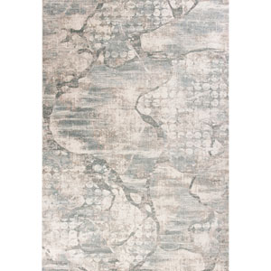 Crete Ivory and Mist Visions Rectangular: 3 Ft. 3 In. x 4 Ft. 7 In. Rug