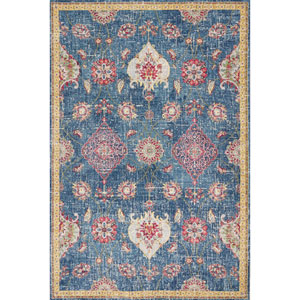 Dreamweaver Blue Layla Rectangular: 3 Ft. 3 In. x 4 Ft. 11 In. Rug