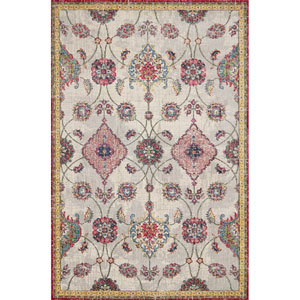 Dreamweaver Ivory Layla Rectangular: 3 Ft. 3 In. x 4 Ft. 11 In. Rug