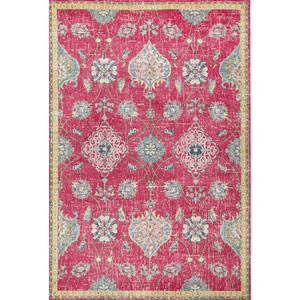 Dreamweaver Pink Layla Rectangular: 3 Ft. 3 In. x 4 Ft. 11 In. Rug
