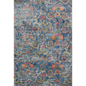 Dreamweaver Blue Delaney Rectangular: 3 Ft. 3 In. x 4 Ft. 11 In. Rug