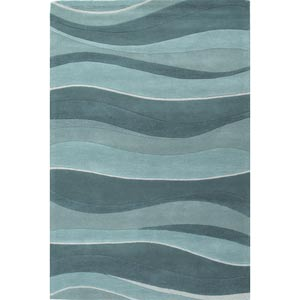Eternity Ocean Landscapes Rectangular: 5 ft. x 8 ft. Rug