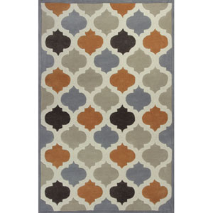 Eternity Ivory and Spice Arabesque Rectangular: 5 Ft. x 8 Ft. Rug