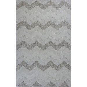 Eternity Ivory Chevron Rectangular: 5 Ft. x 8 Ft. Rug