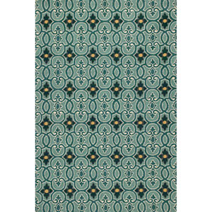 Harbor Teal Round: 7 Ft. 6-Inch Rug