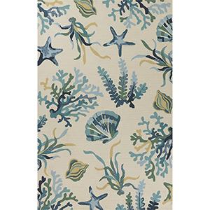 Harbor Ivory and Blue Oceana Rectangular: 2 Ft. x 3 Ft. Rug