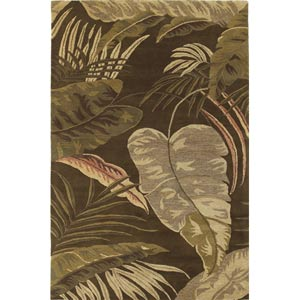 Havana Midnight Rainforest Rectangular: 5 ft. x 8 ft. Rug