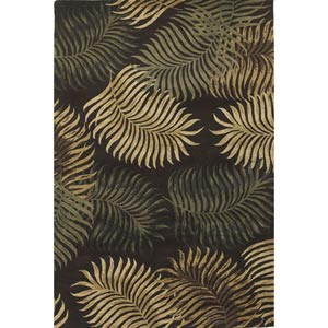 Havana Espresso Fern View Rectangular: 5 ft. x 8 ft. Rug