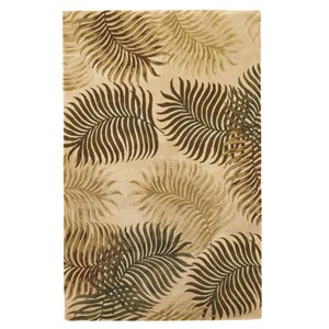 Havana Natural Fern View Rectangular: 5 ft. x 8 ft. Rug