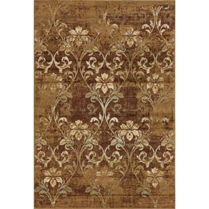 Heritage Olive Damask Rectangular: 3 Ft. 3 In. x 4 Ft. 11 In. Rug
