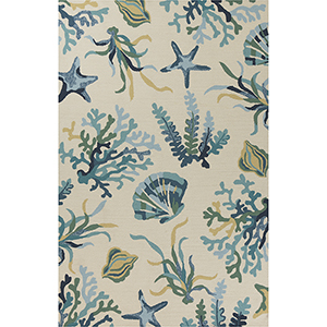Harbor Ivory and Gray Irongate Rectangular: 3 Ft. 3 In. x 5 Ft. 3 In. Rug