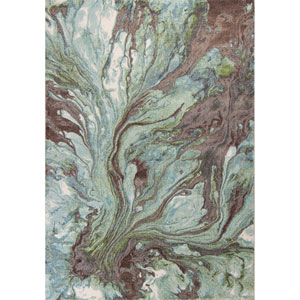 Illusions Seafoam Rectangular: 3 Ft. 3 In. x 4 Ft. 11 In. Rug