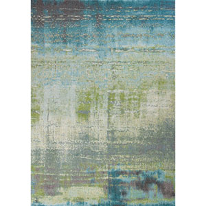 Illusions Blue and Green Rectangular: 3 Ft. 3 In. x 4 Ft. 11 In. Rug