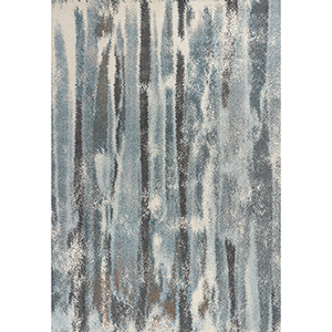 Illusions Teal Moderne Rectangular: 3 Ft. 3 In. x 4 Ft. 11 In. Rug